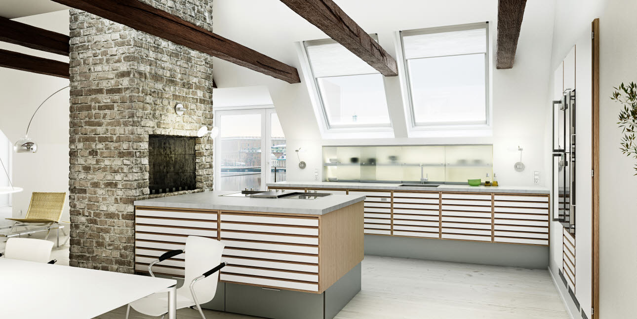 oak kitchen from uno form