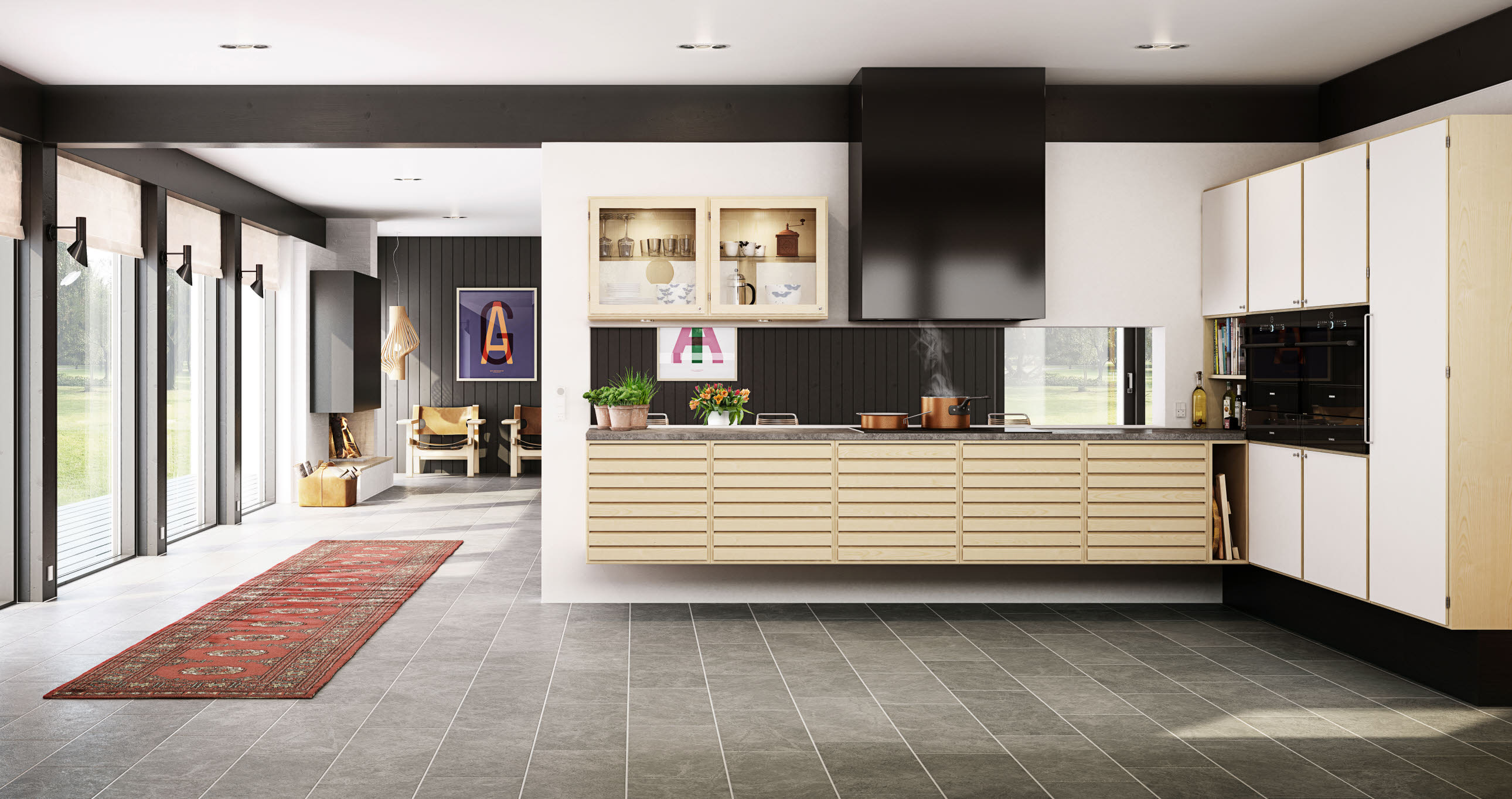 Exclusive wooden kitchen from uno form