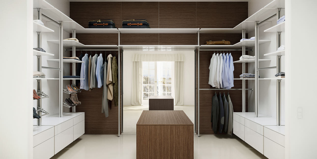 Walk-in closet from uno form