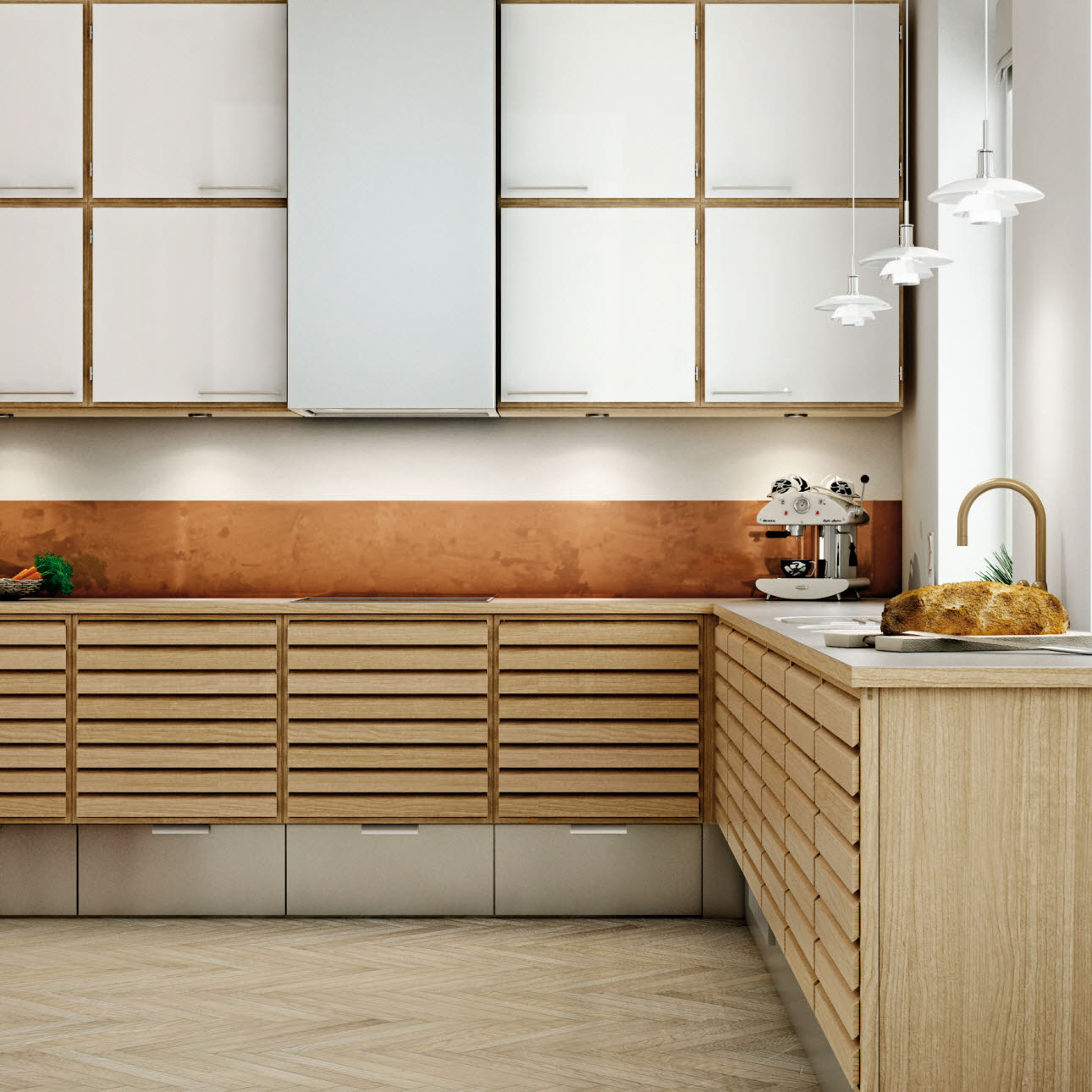 Designer kitchen in oak