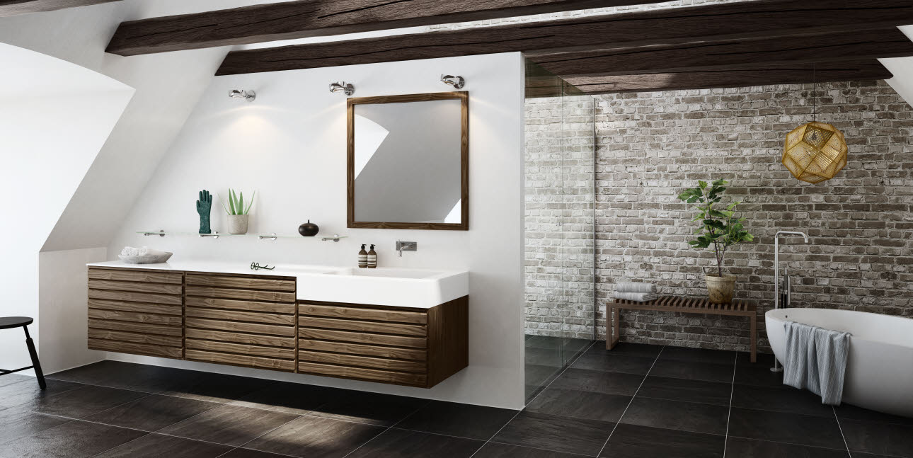126 Best Images About Ikea Badezimmer: Classic Walnut Bathroom With A Touch Of The Contemporary