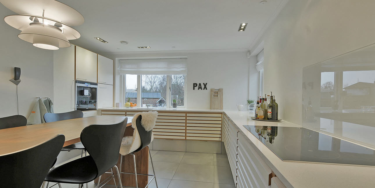 House with Danish designer kitchen