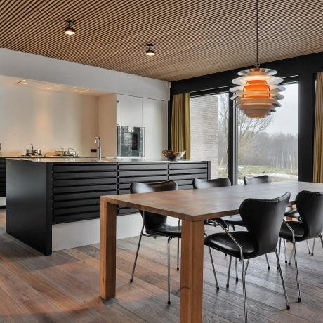 Exclusive designer kitchen in Scandinavian '60s style