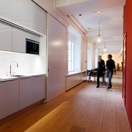 Kitchenette in corporate headquarters