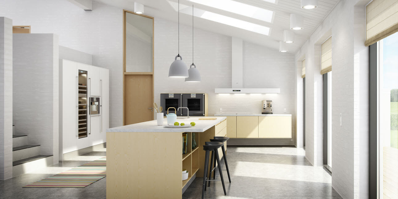 Wooden kitchen from uno form