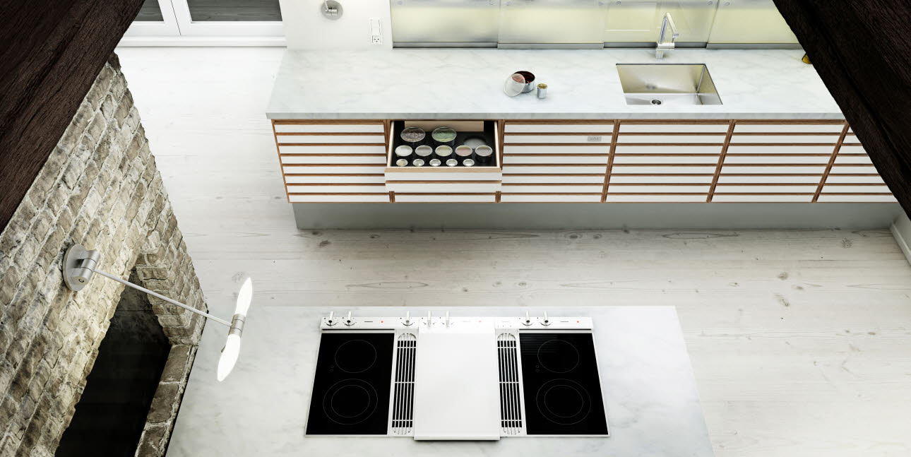 uno form's C-Range: oak kitchen