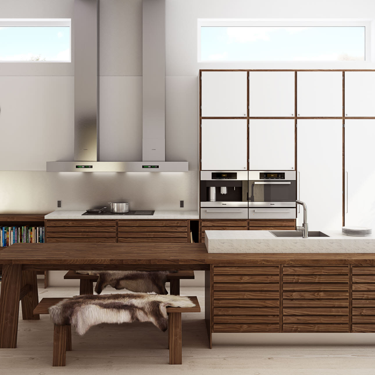 Exclusive walnut kitchen from uno form